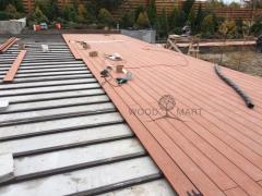 Manufacturing and installation of terraces, decking facades