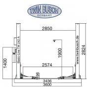 Подъемник twin busch TW242A